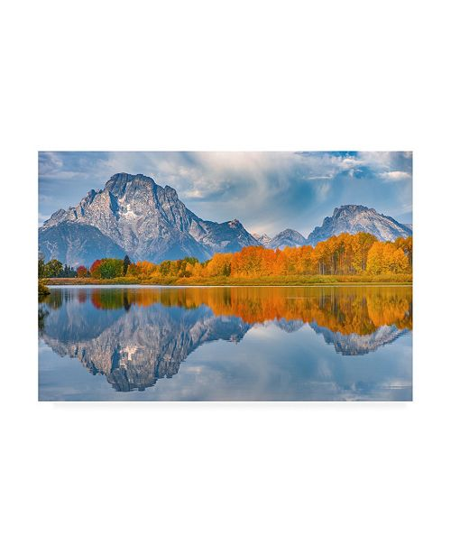 "Trademark Global Darren White Photography Oxbows Autumn Canvas Art - 19.5"" x 26"""