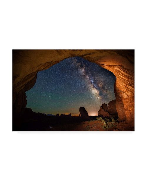 "Trademark Global Darren White Photography Double Arch Milky Way Views Canvas Art - 19.5"" x 26"""