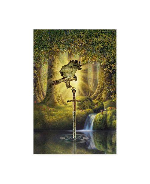 "Trademark Global Dan Craig The Telling Pool Canvas Art - 19.5"" x 26"""