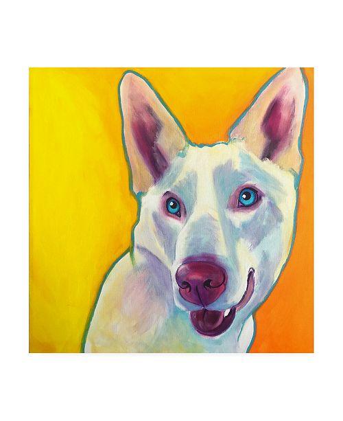 "Trademark Global DawgArt Husky Charlie Canvas Art - 36.5"" x 48"""