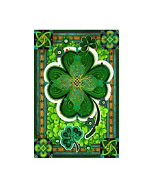 "David Galchutt Shamrocks Celtic Frame Canvas Art - 19.5"" x 26"""
