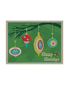 "Holli Conger Retro Christmas 4 Canvas Art - 15.5"" x 21"""