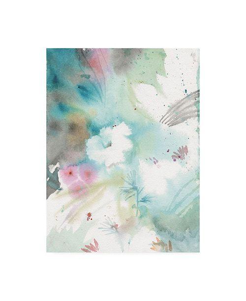 """Trademark Global Sheila Golden Blue Thought #3 Canvas Art - 19.5"""" x 26"""""""