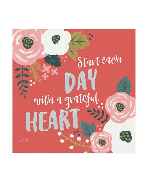 "Trademark Global Laura Marshall Wildflower Daydreams VII Grateful Heart Canvas Art - 36.5"" x 48"""