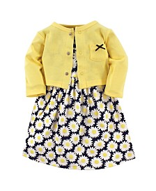 Hudson Baby Dress and Cardigan Set, Daisy, 3 Toddler