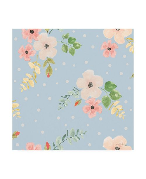 "Trademark Global Jenaya Jackson Spring Sentiments pattern IVA Canvas Art - 19.5"" x 26"""