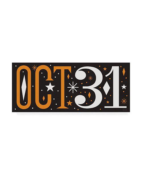 "Trademark Global Michael Mullan Festive Fright October 31 III Canvas Art - 15.5"" x 21"""