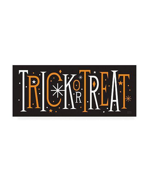 "Trademark Global Michael Mullan Festive Fright Trick or Treat III Canvas Art - 36.5"" x 48"""