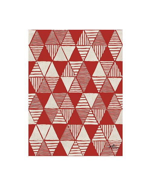 """Trademark Global Janelle Penner Spread the Love Pattern VIIE Canvas Art - 36.5"""" x 48"""""""