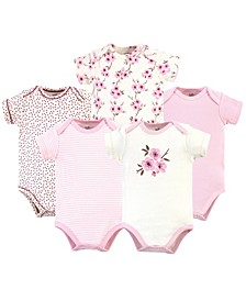 Organic Cotton Bodysuit, 5 Pack, Cherry Blossom, 3-6 Months