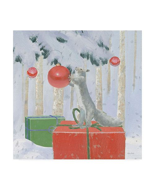 "Trademark Global Emily Adams Christmas Critters Bright VII Canvas Art - 15.5"" x 21"""