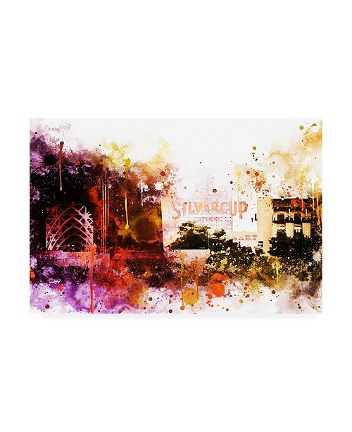 "Trademark Global Philippe Hugonnard NYC Watercolor Collection - Silvercup Studios Canvas Art - 15.5"" x 21"""