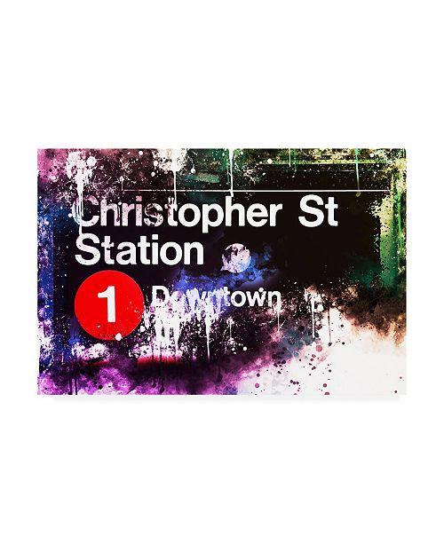 """Trademark Global Philippe Hugonnard NYC Watercolor Collection - Christopher St Station Canvas Art - 36.5"""" x 48"""""""