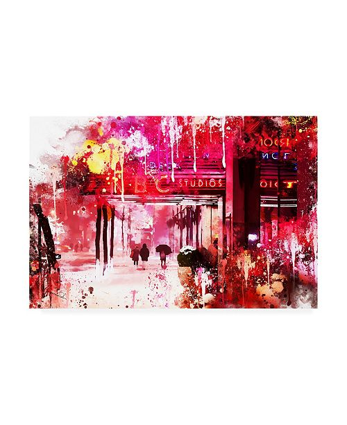 "Trademark Global Philippe Hugonnard NYC Watercolor Collection - NBC Studios Canvas Art - 27"" x 33.5"""