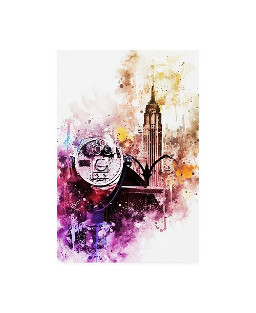 "Trademark Global Philippe Hugonnard NYC Watercolor Collection - Observation Canvas Art - 36.5"" x 48"""