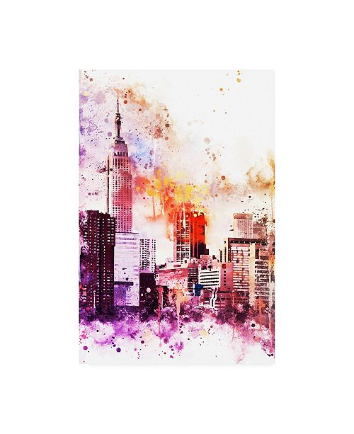 """Trademark Global Philippe Hugonnard NYC Watercolor Collection - the Empire Canvas Art - 15.5"""" x 21"""""""