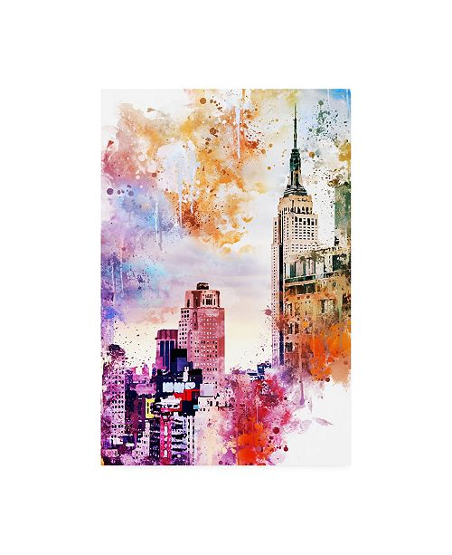 "Trademark Global Philippe Hugonnard NYC Watercolor Collection - the Empire State Building Canvas Art - 19.5"" x 26"""