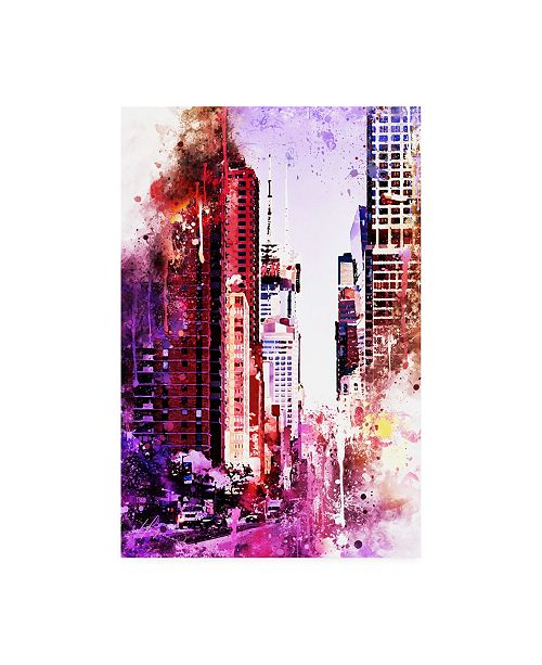 "Trademark Global Philippe Hugonnard NYC Watercolor Collection - Life is Pink Canvas Art - 36.5"" x 48"""