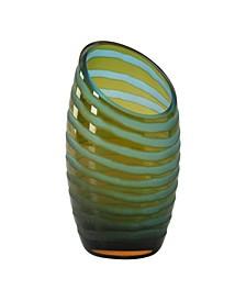 Angle Cut Chiseled Vase - Orange Collection