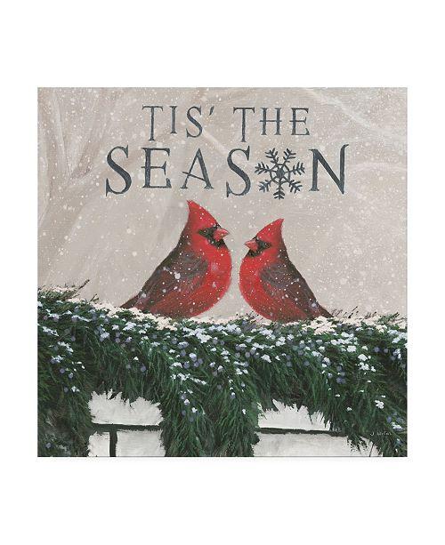 "Trademark Global James Wiens Christmas Affinity X Two Birds Canvas Art - 15.5"" x 21"""