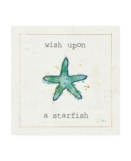 "Trademark Global Pela Studio Sea Treasures III Wish Canvas Art - 36.5"" x 48"""