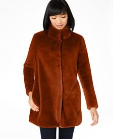 Calvin Klein Faux-Fur Coat