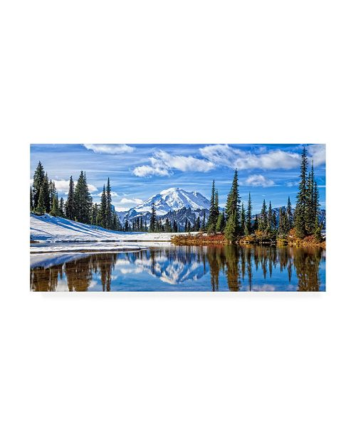 "Trademark Global Michael Broo Mt. Rainier Vista Canvas Art - 27"" x 33.5"""