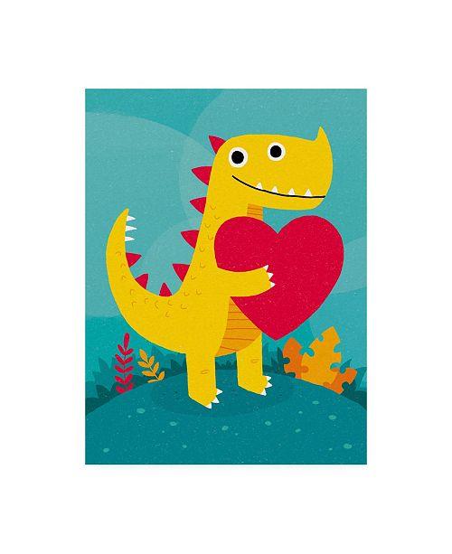 "Trademark Global Michael Buxto Dino Love Canvas Art - 27"" x 33.5"""