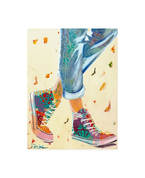 "Trademark Global Pamela K. Bee High Tops Canvas Art - 36.5"" x 48"""