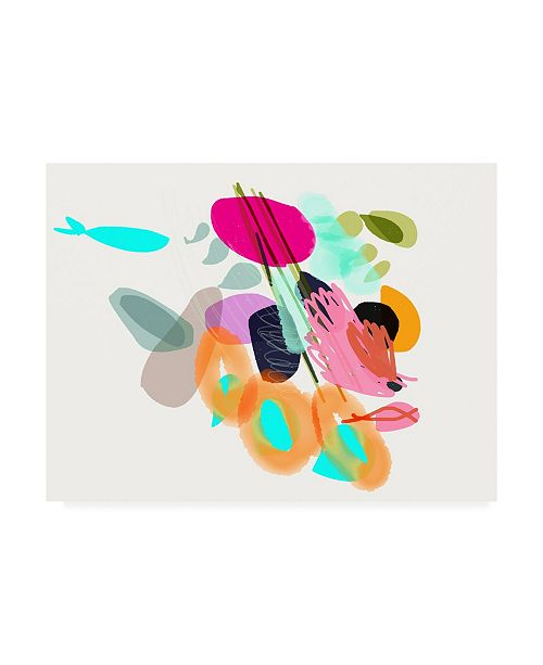 """Trademark Global Niya Christin Cyan Fish Canvas Art - 15.5"""" x 21"""""""