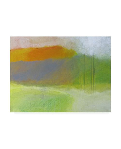 "Trademark Global Skadi Engel Yellow Mountain Canvas Art - 27"" x 33.5"""