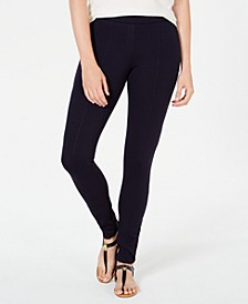 Petite Seamed Ponté Leggings, Created for Macy's