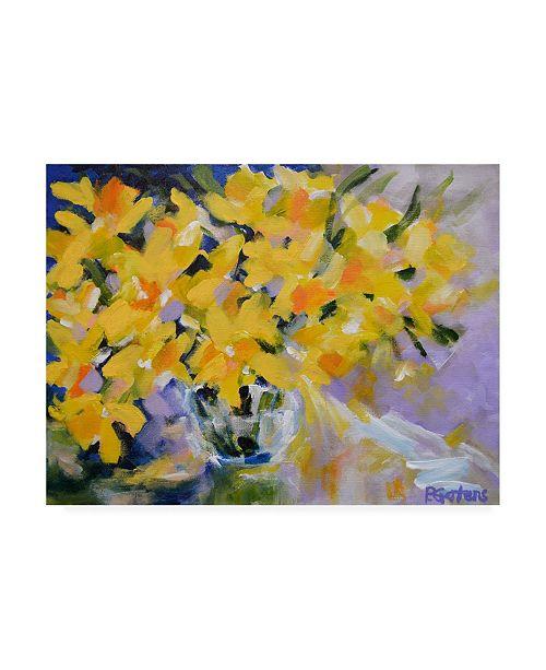 """Trademark Global Pamela Gaten The Golden Hour Bouquet Canvas Art - 36.5"""" x 48"""""""