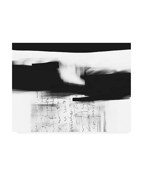 "Trademark Global Simona Goca Letter No. 4 Canvas Art - 27"" x 33.5"""