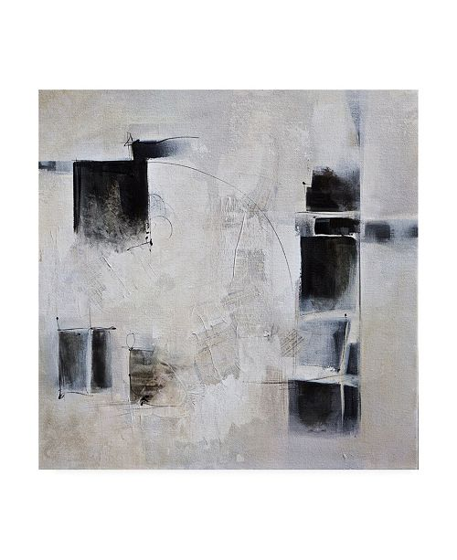 """Trademark Global Karen Hal Black and White and in Between Canvas Art - 36.5"""" x 48"""""""