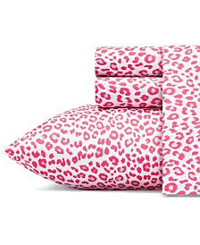Betsey Johnson Betseys Leopard Sheet Set, Queen