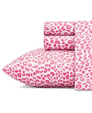 Betsey Johnson Betseys Leopard Sheet Set, Queen Bedding