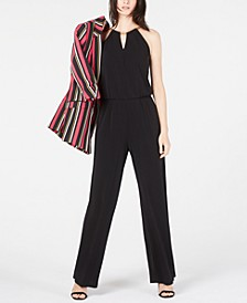 INC Solid Chain Jumpsuit, Created for Macy's