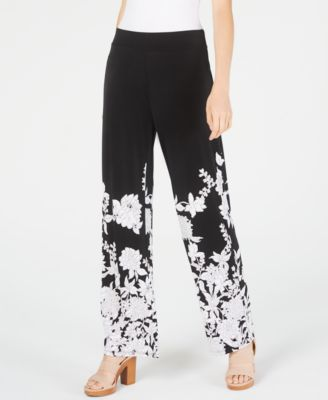 INC Floral-Print Wide-Leg Pants, Created for Macy