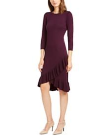 Calvin Klein Ruffled Sweater Dress