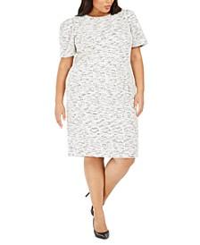 Plus Size Tweed Sheath Dress