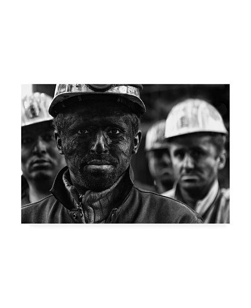 """Trademark Global Yavuz Sariyildiz Coal Mine Workers 3 Canvas Art - 15"""" x 20"""""""