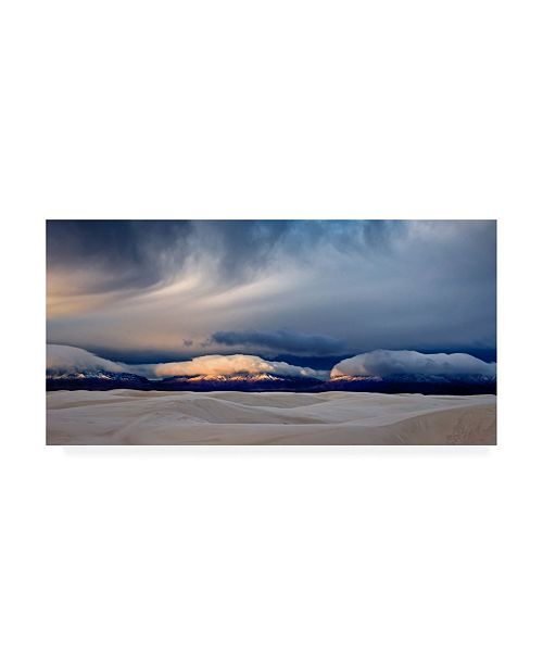 "Trademark Global John Fan Day Break at White Sand Canvas Art - 37"" x 49"""