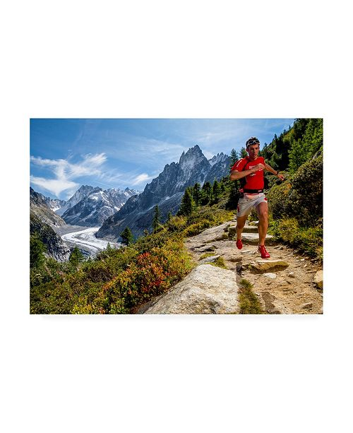 "Trademark Global Tristan Shu Kilian Jornet Training Above Montenvers Canvas Art - 20"" x 25"""