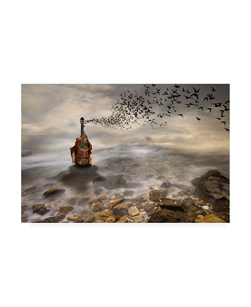 "Trademark Global Leyla Emektar La Autumn Music Canvas Art - 20"" x 25"""
