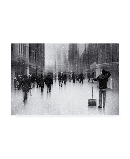 """Trademark Global Roswitha Schleicher Schwarz Clean City 2 Canvas Art - 37"""" x 49"""""""