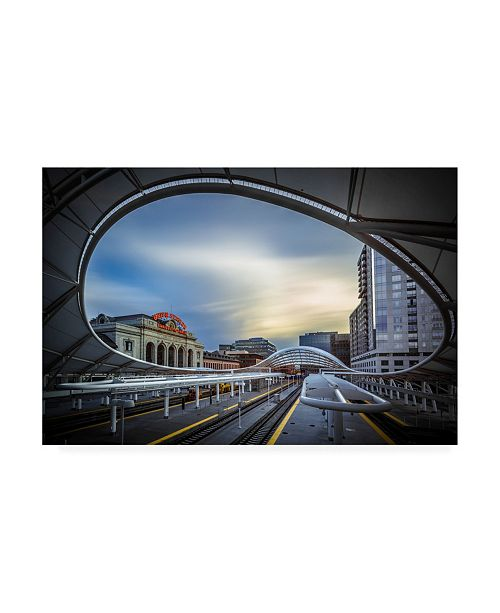 "Trademark Global Jan Abadschieff Union Station Denver Slow Sunset Canvas Art - 15"" x 20"""