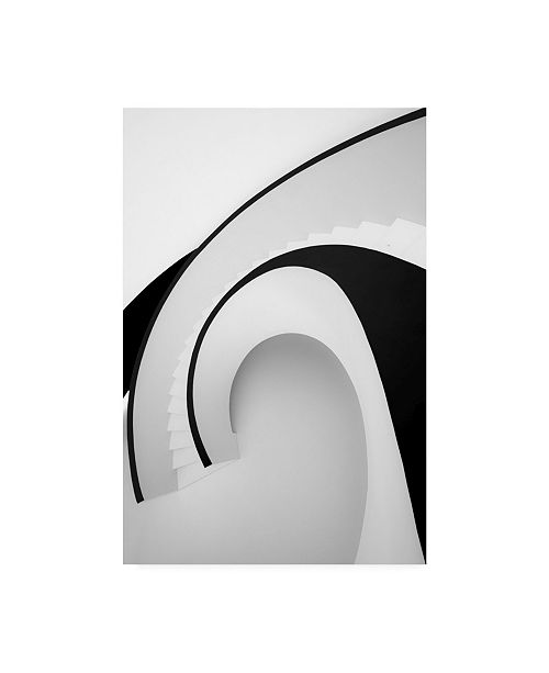 """Trademark Global Joao Castro Going Up Black and White Canvas Art - 37"""" x 49"""""""