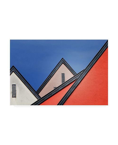 """Trademark Global Jeroen Van De Roof Lines Geometry Canvas Art - 20"""" x 25"""""""
