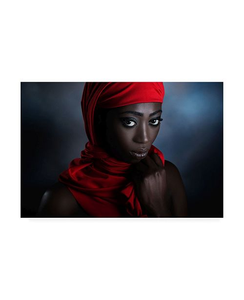 """Trademark Global Peppe The Red Scarf Canvas Art - 15"""" x 20"""""""